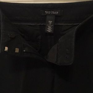White House Black Market Pants - 🌸WHBM Stretchy Black Above The Ankle Career Pants